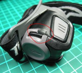 Improve and fix a head lamp using Sugru