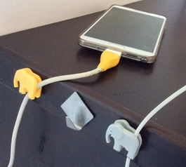Use Sugru to reinforce your charger and attach cute elephant shaped cable holders to your desk.