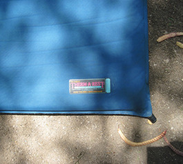 Patch a Therm-a-Rest camping mat (before)