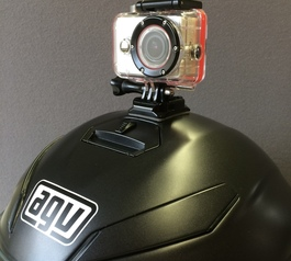 Bond a camera to your helmet with Sugru (before)