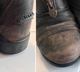 Fix leather riding boots (before)