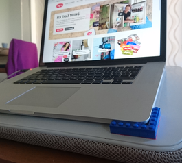 Improve your laptop stand using Sugru and LEGO