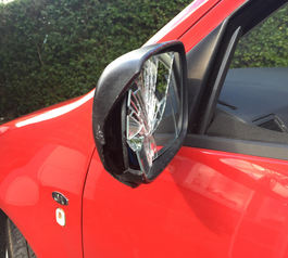 Fix a broken wing mirror with Sugru (before picture)