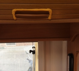 Improve the handle in a motorhome using Sugru