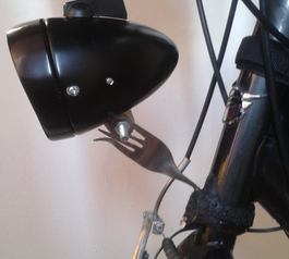 Mount a front light on your bike