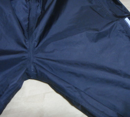 Reinforce the seam of a raincoat (before)