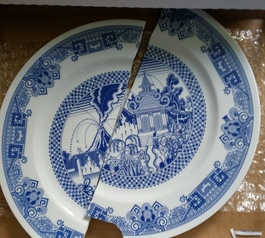Fix a plate after a calamitous break