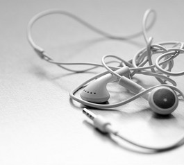 Make an earphone wire holder