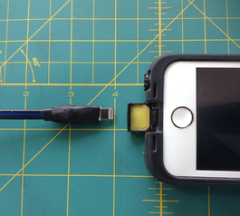Resize an iPhone/iPad USB to lightning cable end