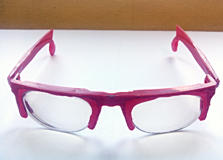 Glasses Frame Adjustment : Adjust lenses to 3D-printed eyeglass frames Sugru