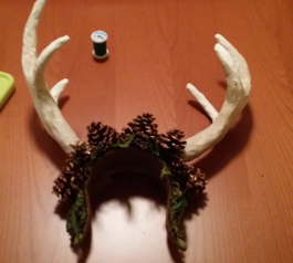 Protect sharp edges on prop antlers (after)