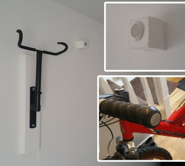 Make a magnetic bike handlebar holder (after)