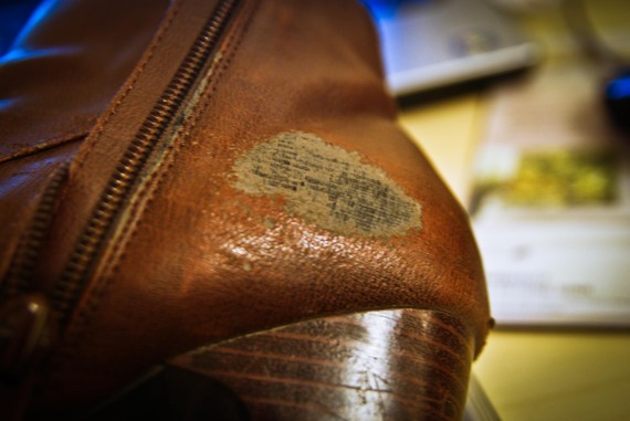 Patch up abraded boots