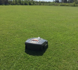 Repair the wheel on a lawnmower robot (after)