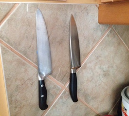Create a magnetic knife holder (after)