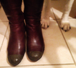 Fix your boots using Sugru (after)