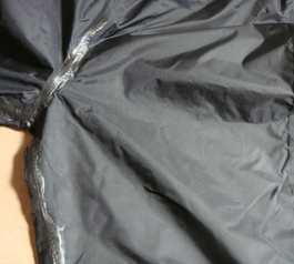Reinforce the seam of a raincoat (after)