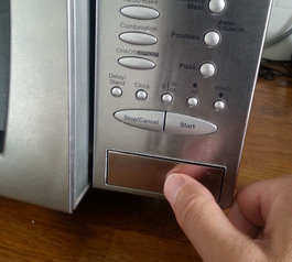 Fix a microwave door release
