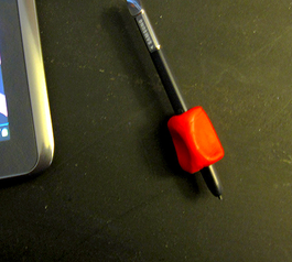 Create a removable grip for a stylus