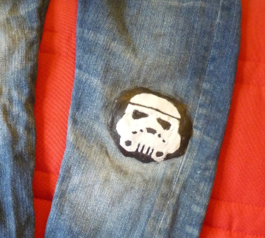 Make a Star Wars jeans patch