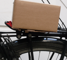 Make a bike rear rack compatible with large objects using Sugru