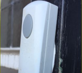 Fix a doorbell to a wall with Sugru