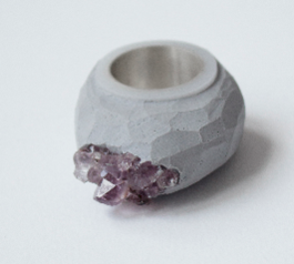Create a Sugru and amethyst ring (after)