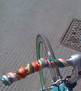make funky, stripy bike grips