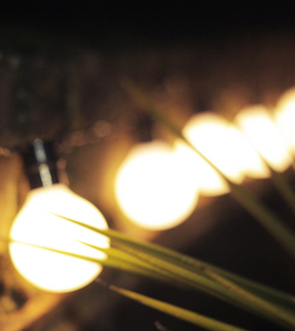 How to hang lights outside without drilling