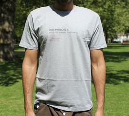 Fixer's manifesto t-shirt being worn