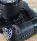Nikon camera with one Sugru pad
