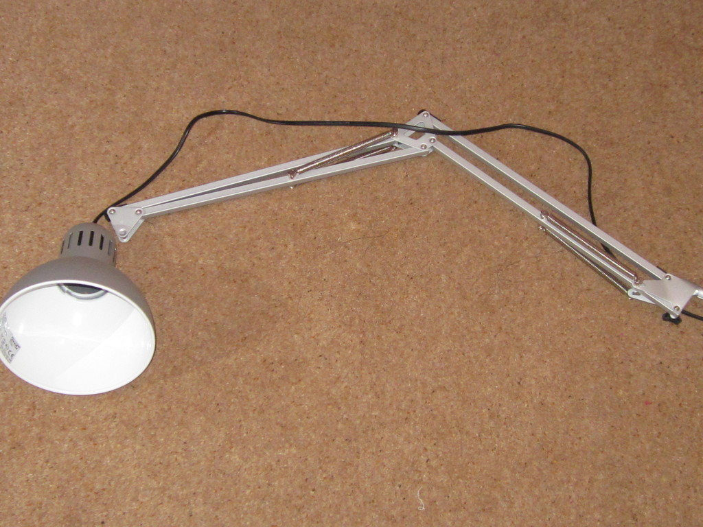 Dismantled lamp
