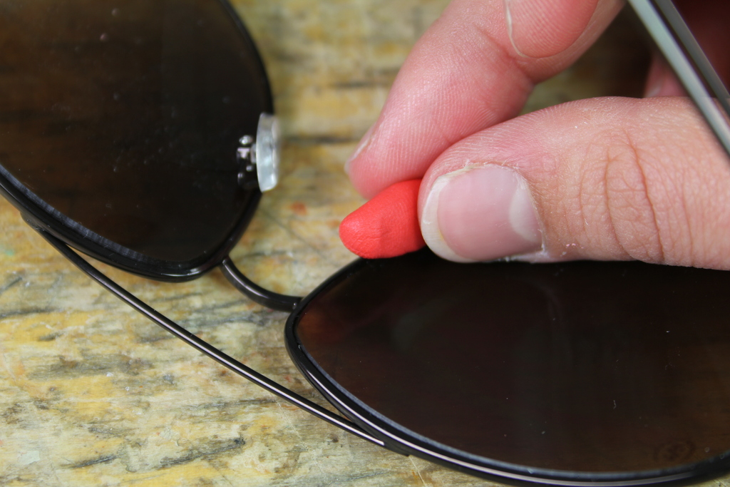 Sugru ball being moulded with finger