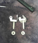 Toilet hinge removed