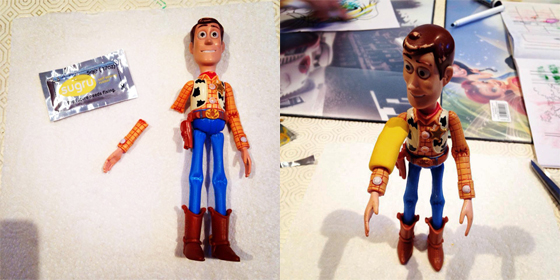 woody toy fixed with sugru