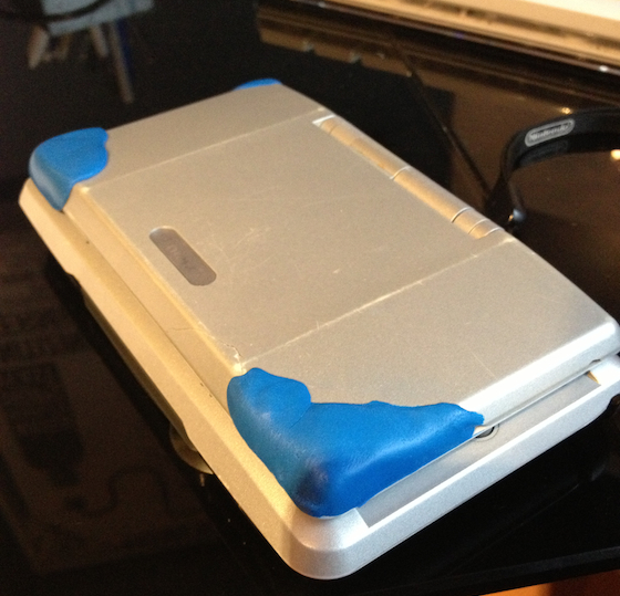 nintendo ds cover fixed with sugru