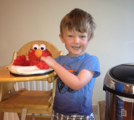 elmo toy fixed with sugru